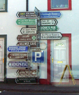 Signpost in Ballyvaughan