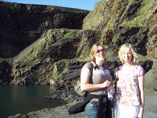 Caroline and Ruth at the Blue Lagoon