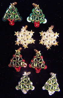 Star and tree earrings