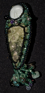 Rainforest Jasper pin