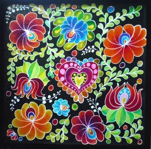 My finished batik