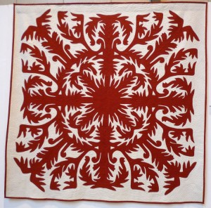 A picture of the quilt titled 'Kaui o Na Molokama'