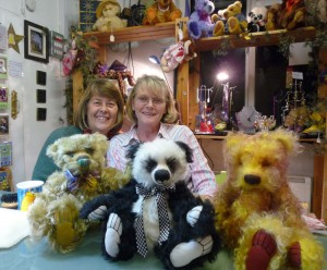 Yvonne and Anita with their finished bears
