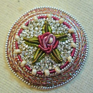 Rose Goldwork Brooch