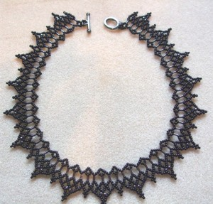 Daggers necklace made by Amanda Tinkler