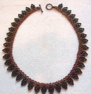 Leaves necklace by Amanda Tinkler