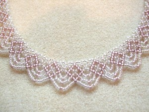 Close up on Swags necklace by Amanda Tinkler